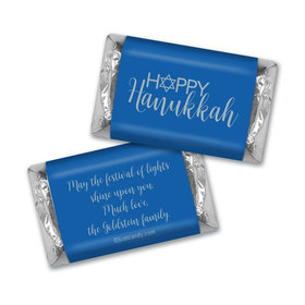 Blue Hanukkah MINIATURES Candy Personalized Assembled