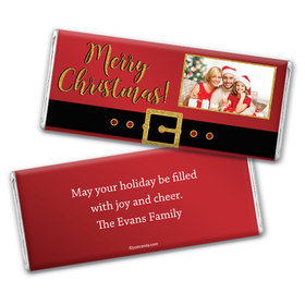 Santa Buckle Personalized Candy Bar - Wrapper Only
