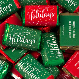 Non Personalized Happy Holidays Hershey's Miniatures