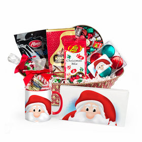 Personalized Merry Christmas Santa Candy Gift Basket