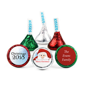 Personalized Christmas Ho Ho Santa Hershey's Kisses (50 pack)