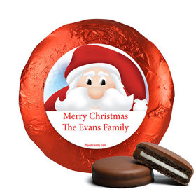 Personalized Chocolate Covered Oreos - Christmas Peeking Santa