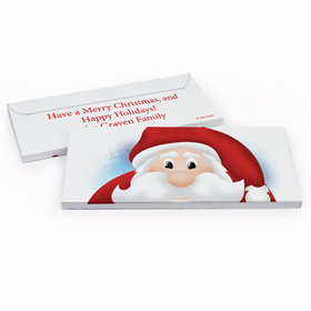 Deluxe Personalized Peeking Santa Christmas Chocolate Bar in Gift Box