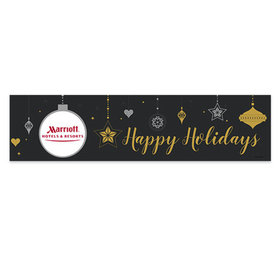 Personalized Add Your Logo Once Upon a Holiday Christmas 5 Ft. Banner