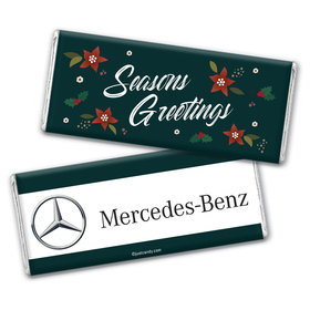 Personalized Christmas Add Your Logo Seasons Greetings Chocolate Bar Wrappers