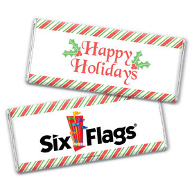Personalized Happy Holidays Add Your Logo Chocolate Bar Wrappers