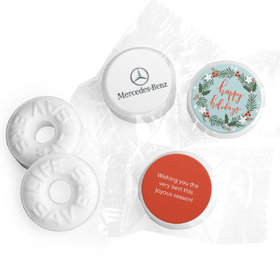 Personalized Life Savers Mints - Christmas Decorative Wreath with Logo