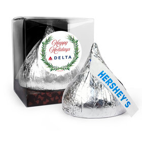 Personalized Christmas Winter Greenery 12oz Giant Hershey's Kiss