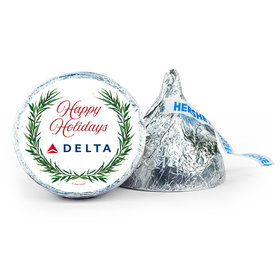 Personalized Christmas Winter Greenery 7oz Giant Hershey's Kiss