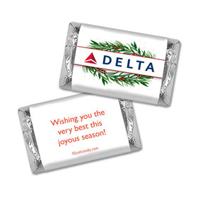 Personalized Christmas Winter Greenery with Logo Hershey's Miniatures