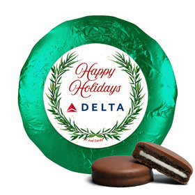 Personalized Happy Holidays Winter Greenery Chocolate Covered Oreos