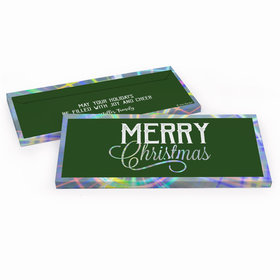 Deluxe Personalized Merry Christmas Candy Bar Favor Box
