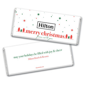 Personalized Christmas Simple Snowflakes with Logo Chocolate Bar & Wrapper