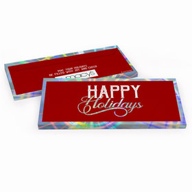 Deluxe Personalized Modern Holidays Add Your Logo Candy Bar Favor Box