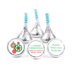 "Personalized Christmas Ornaments 3/4"" Stickers (108 Stickers)"