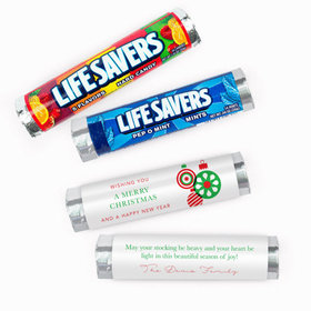 Personalized Christmas Ornaments Lifesavers Rolls (20 Rolls)