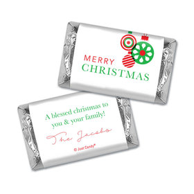Personalized Christmas Ornaments Hershey's Miniatures Wrappers