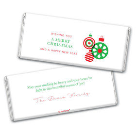 Personalized Christmas Ornaments Chocolate Bars