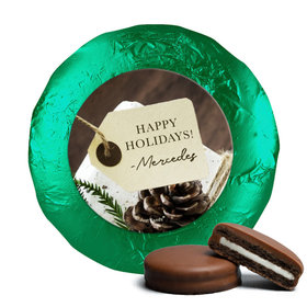 Personalized Christmas Corporate Hang Tag Chocolate Covered Oreos