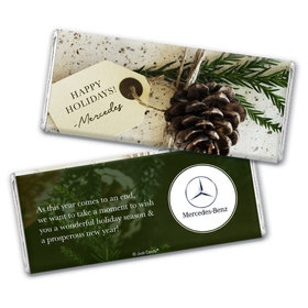 Personalized Christmas Corporate Gift Tag Chocolate Bars