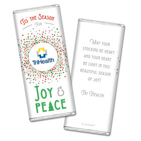 Personalized Christmas Confetti Add Your Logo Chocolate Bars