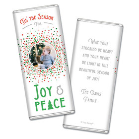 Personalized Christmas Confetti Chocolate Bars