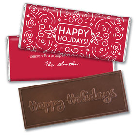 Personalized Christmas Confetti Embossed Chocolate Bar