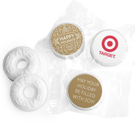 Personalized Happy Holidays Add Your Logo Life Savers Mints