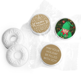 Personalized Happy Holidays Photo Life Savers Mints