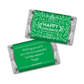 Personalized Happy Holidays Hershey's Miniatures