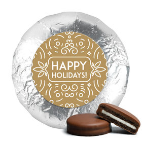 Happy Holidays Chocolate Covered Oreos