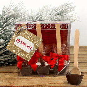 Personalized Christmas Add Your Logo Hot Coco Hot Chocolate Spoon 3pk