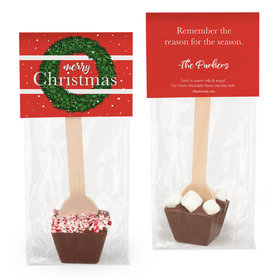 Personalized Christmas Wreath Hot Chocolate Spoon