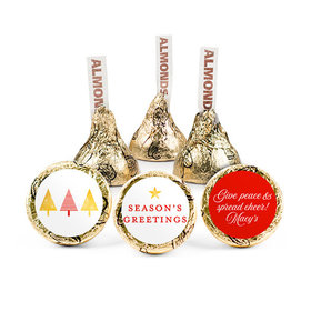 Personalized Christmas Festive Greetings Hershey's Kisses (50 pack)