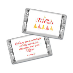 Personalized Christmas Festive Greetings Hershey's Miniatures Wrappers