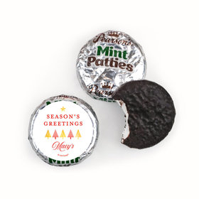 Personalized Christmas Festive Greetings Pearson's Mint Patties