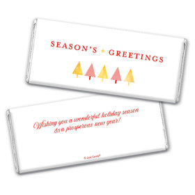 Personalized Christmas Festive Greetings Chocolate Bar Wrappers Only