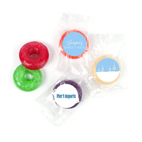 Personalized Christmas Frosty Pines Life Savers 5 Flavor Hard Candy