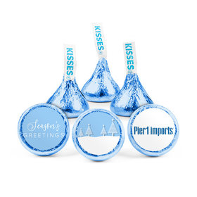Personalized Christmas Frosty Pines Hershey's Kisses (50 pack)