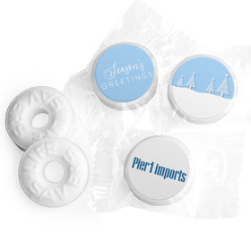 Personalized Christmas Frosty Pines Life Savers Mints