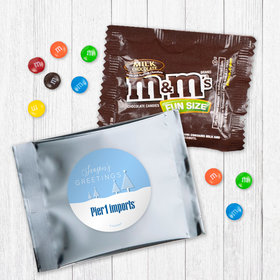 Personalized Christmas Frosty Pines - Milk Chocolate M&Ms