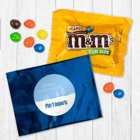 Personalized Christmas Frosty Pines - Peanut M&Ms