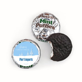 Personalized Christmas Frosty Pines Pearson's Mint Patties