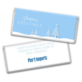 Personalized Christmas Frosty Pines Chocolate Bars