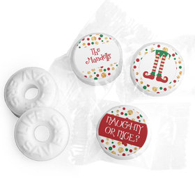 Personalized Christmas Naughty or Nice Life Savers Mints