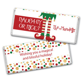 Personalized Christmas Naughty or Nice Chocolate Bar Wrappers Only