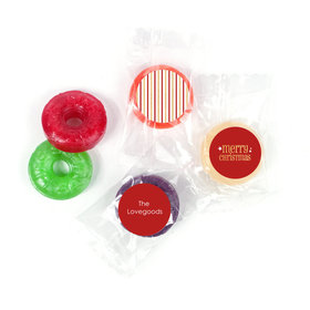 Personalized Christmas Shimmering Life Savers 5 Flavor Hard Candy