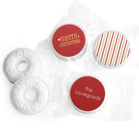 Personalized Christmas Shimmering Life Savers Mints