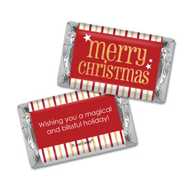Personalized Shimmering Christmas Hershey's Miniatures Wrappers