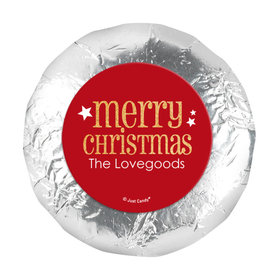 """Personalized Shimmering Christmas 1.25"""" Stickers (48 Stickers)"""